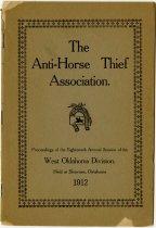 Image of 1912 Annual Session of West Oklahoma Anti-Horse Thief Association, Shawnee, Oklahoma - John Martin Smith Miscellaneous Collection
