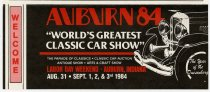 Image of Welcome brochure for 1984 Auburn Cord Duesenberg Festival in Auburn, Indiana - Jack Randinelli ACD Collection