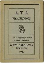 Image of 1927 Annual Session of West Oklahoma Anti-Horse Thief Association, Blackwell, Oklahoma - John Martin Smith Miscellaneous Collection