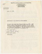 Image of Memorandum to ACD Members - Jack Randinelli ACD Collection
