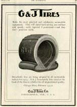 Image of G & J Tires Advertisement - John Martin Smith Miscellaneous Collection