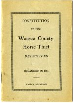 Image of 1925 Constitution and Member List of The Waseca County Horse Thief Detectives, Waseca, Minnesota - John Martin Smith Miscellaneous Collection