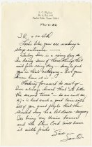 Image of Personal note anticipating 1984 Auburn-Cord-Duesenberg event - Jack Randinelli ACD Collection