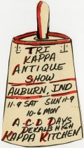 Image of Tri Kappa Antique Show Signage - Jack Randinelli ACD Collection
