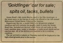 """Image of """"'Goldfinger"""" Aston-Martin for sale at 1984 Auburn Cord Duesenberg auction; spits oil, tacks, bullets - Jack Randinelli ACD Collection"""