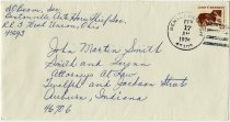 Image of Envelope to John Martin Smith from Bentonville Anti-Horsethief Association dated 1976 - John Martin Smith Miscellaneous Collection