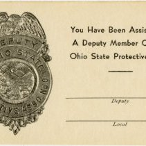Image of Undated Assistance Card of the Ohio State Protective Association - John Martin Smith Miscellaneous Collection