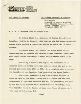 Image of FDR's Limousine Goes on Auction Block news release - Jack Randinelli ACD Collection