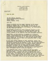Image of Letter between ACD Festival and Auburn Chamber of Commerce on Financial Contribution for 1970 - Jack Randinelli ACD Collection