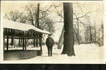 Image of Sebring Photo Album - Man in Eckhart Park - John Martin Smith Miscellaneous Collection