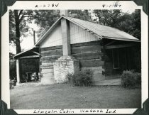 Image of Lincoln Cabin in Wabash, Indiana - John Martin Smith Miscellaneous Collection