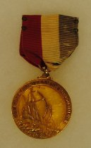 Image of 2014.12.06 - This is Don Lash's award for the 2 mile run from the New York Chapter Knights of Columbus in 1937.