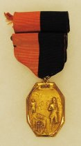 Image of 2014.12.06 - This is Don Lash's medal for the 2 mile run at Princeton University's Third Annual Invitation Track Meet, June 18, 1936.