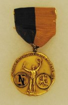 Image of 2014.12.06 - This is Don Lash's 1937 Indiana Intercollegiate Conference Medal for First Place in the 2 Mile Run.