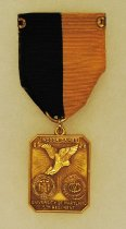 Image of 2014.12.06 - This is Don Lash's 1941 A.A.U. Medal for First Place in 2 Mile Run at the University of Maryland.