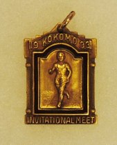 Image of 2014.12.06 - This is Don Lash's 1933 Medal for First Place for the 880 Yard Run at the Kokomo Invitational Meet.