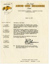 """Image of """"Gentlemen of the Press"""" Welcoming Letter to ACD Festival - Jack Randinelli ACD Collection"""