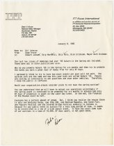 Image of Letter criticizing the existence of two car auctions in Auburn during 1985 - Jack Randinelli ACD Collection