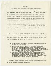 Image of 1986 Contract between ACD Festival and Charleston Auctioneers - Jack Randinelli ACD Collection