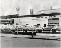 Image of 1950's Chevrolet Dealership - John Martin Smith Miscellaneous Collection