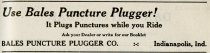 Image of 1916 Scarborough's Official Tour Book Advertisement for Bales Puncture Plugger Company, Indianapolis, Indiana - John Martin Smith Miscellaneous Collection