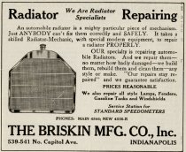 Image of 1916 Scarborough's Official Tour Book Advertisement for Briskin Manufacturing Company, Indianapolis, Indiana - John Martin Smith Miscellaneous Collection