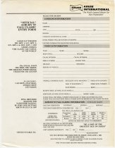 Image of Auburn '87 Fall Classic entry form for consignors - Jack Randinelli ACD Collection