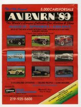 Image of 19th annual Auburn '89 collector car auction and show magazine - Jack Randinelli ACD Collection