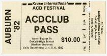 Image of Auburn-Cord-Duesenberg Club pass and parking permit to DeKalb High School stadium grounds - Jack Randinelli ACD Collection