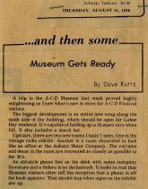 Image of ...and then some: museum gets ready - Jack Randinelli ACD Collection