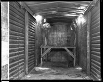 Image of Black and White Images of Railroad Box Car Welders. - John Martin Smith DeKalb County Fair Collection