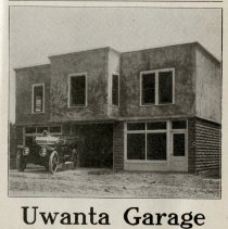 Image of 1912 Hoosier Motor Club Official Road Guide ad for the Uwanta Garage, Rushville, Indiana - John Martin Smith Miscellaneous Collection