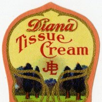 Image of JBL Diana Tissue Cream Label.