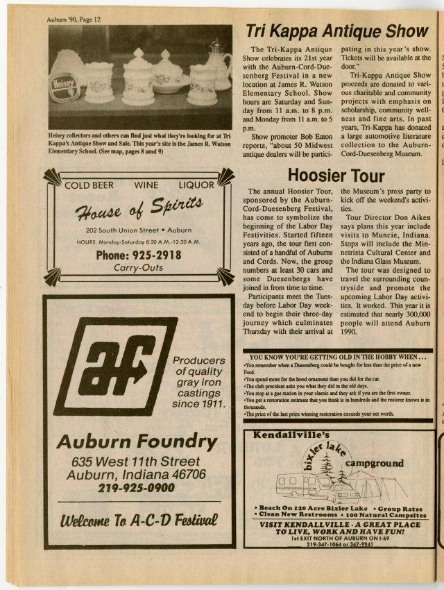Auburn 1990 Promotional Magazine - Jack Randinelli ACD