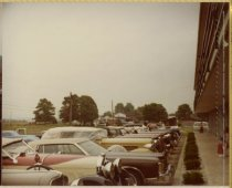 Image of Classic cars parked near motel - Jack Randinelli ACD Collection