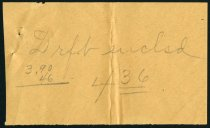 """Image of """"Drft enclsd"""" Note - Auburn Public Library papers - Charles Eckhart & W. H. McIntosh Collection"""