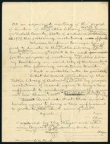 Image of Draft of letter concerning Andrew Carnegie's library offer - March 1909 - Charles Eckhart & W. H. McIntosh Collection