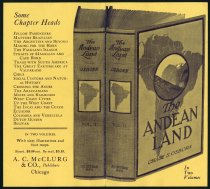 Image of Advertisement for The Andean Land - Charles Eckhart & W. H. McIntosh Collection