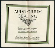 Image of American Seating Company Catalog of Auditorium Seating - Charles Eckhart & W. H. McIntosh Collection