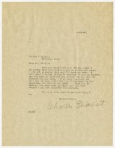 Image of Letter from Charles Eckhart to Patton and Miller - Charles Eckhart & W. H. McIntosh Collection