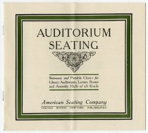 Image of American Seating Company Booklet - Charles Eckhart & W. H. McIntosh Collection