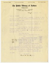 Image of Letter from Grace Smith to Charles Eckhart on Ashley lot - Charles Eckhart & W. H. McIntosh Collection