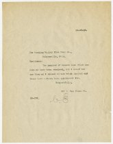 Image of Letter from Charles Eckhart to the Hocking Valley Fire Clay Company - Charles Eckhart & W. H. McIntosh Collection