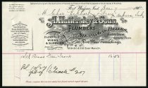 Image of A. Hattersley and Sons Invoice - Charles Eckhart & W. H. McIntosh Collection