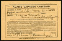 Image of Adams Express Company Bill of Lading - Charles Eckhart & W. H. McIntosh Collection
