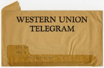 Image of Western Union Telegram From Orris. A. Wise to Mrs. O. A. Wise. -