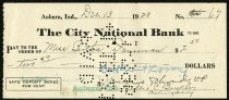 Image of Check for Bertha Daurman December 13, 1920 - Charles Eckhart & W. H. McIntosh Collection