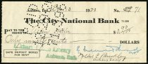 Image of Check for Allen Haller December 13, 1920 - Charles Eckhart & W. H. McIntosh Collection