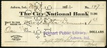 Image of Check for Bertha Daurman May 8, 1922 - Charles Eckhart & W. H. McIntosh Collection