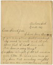 Image of Letter Addressed to Josie From Harry S. Williamson. -